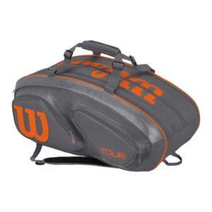 wilson-tour-v-15-pak-grey-orange-tennistas